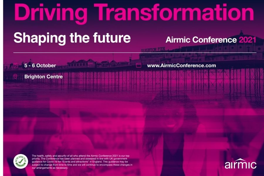 """Airmic Conference 2021: """"Driving Transformation. Shaping de future"""""""