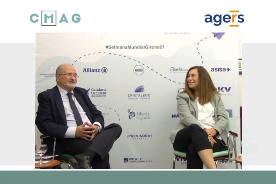 Gonzalo Iturmendi y Ana Ruíz en la 47ª Semana Mundial del Mediador de Seguros